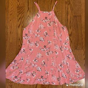 Ardene baby pink halter dress in size XL